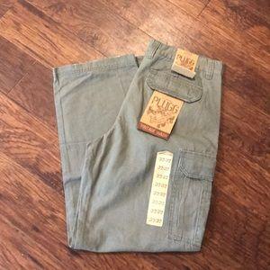 Men's NWT Plugg cargo green pants